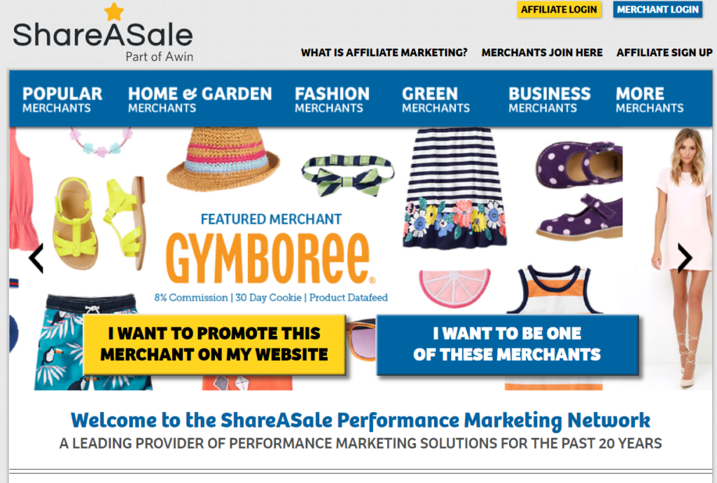 affiliate marketplaces - shareasale
